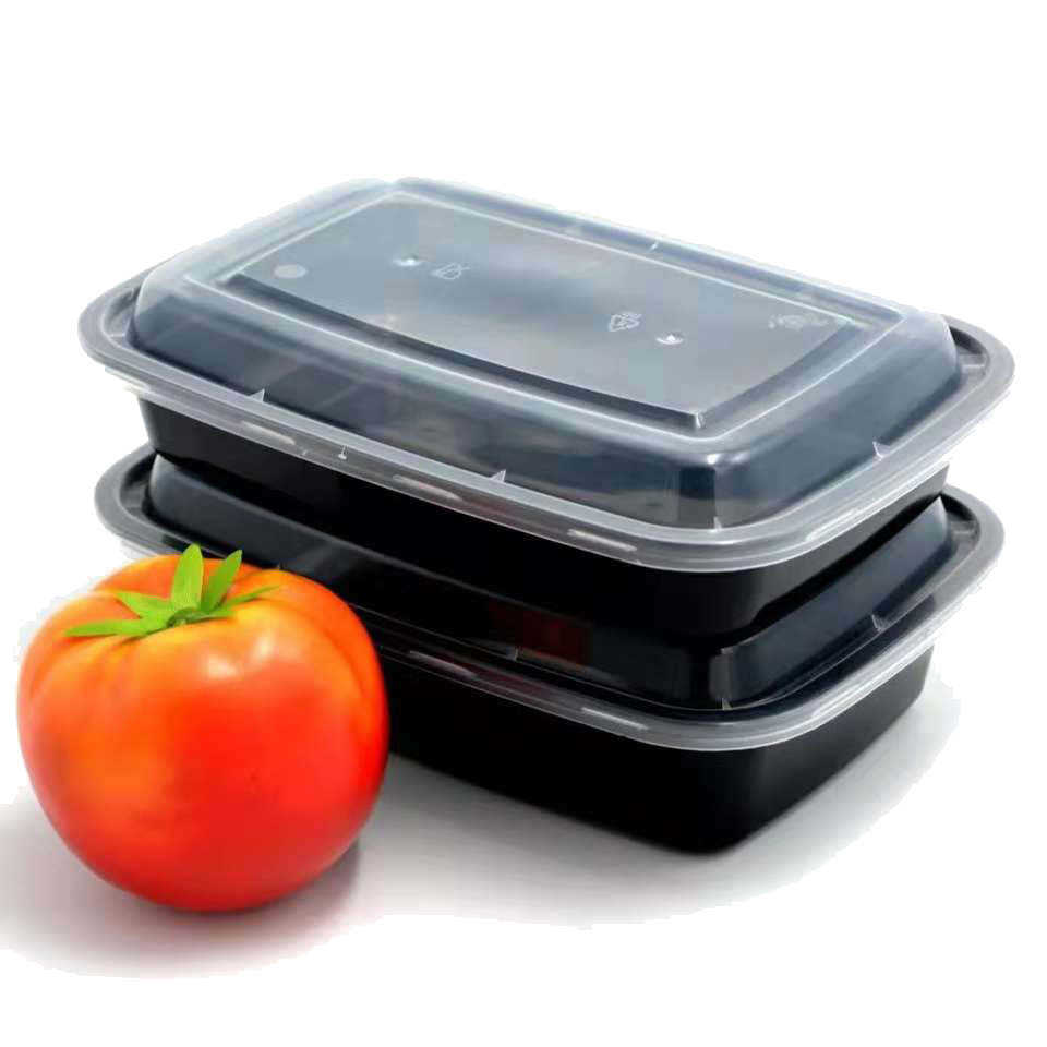 Factory OEM price Takeaway Microwavable Plastic Disposable 4 Compartment Lunch Boxes / Meal Packing
