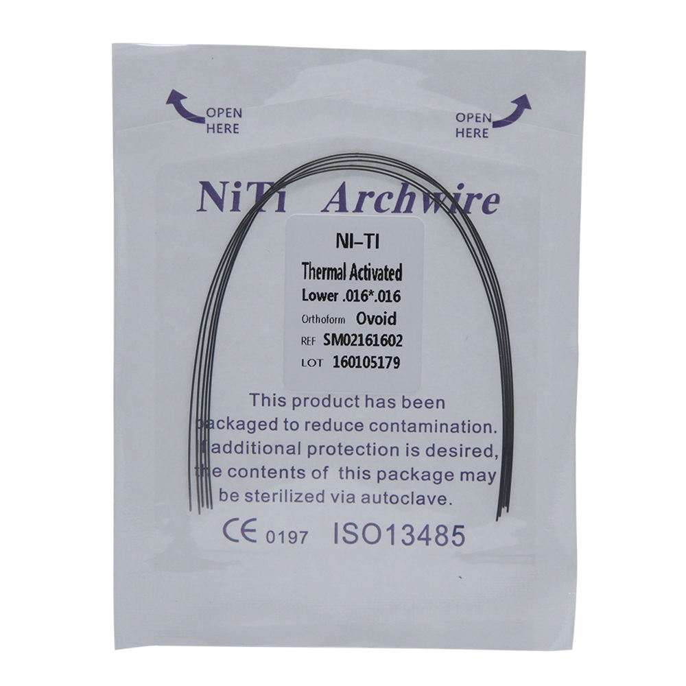 SKYORTHO Dental supplies orthodontics Thermal Activated Arches Orthodontic Niti Arch Wire rectangular