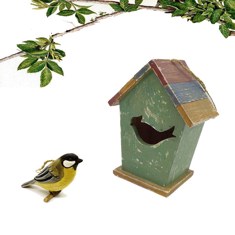 Manufacture Wholesale Wood Bird Nest Box Wood Birdhouse Cages Wooden Bird House
