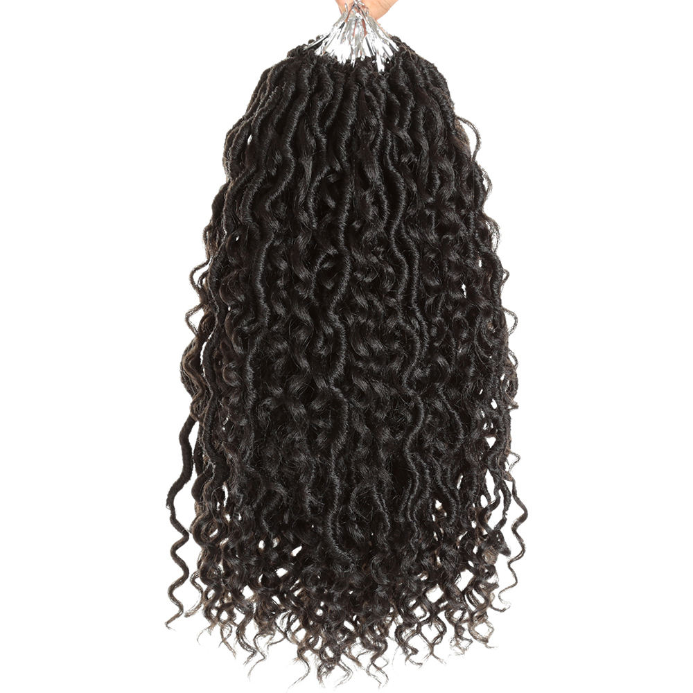 Soft Braids Hair Weave Faux Locs Curly Crochet Hair Extension For Black Women