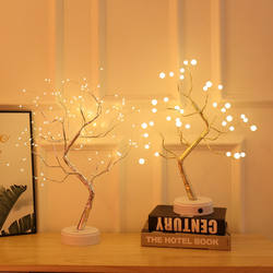 Creative design of LED tree star lights Indoor lighting Decorative items Custom Led Lamp Style Holiday Color Motif Decoration