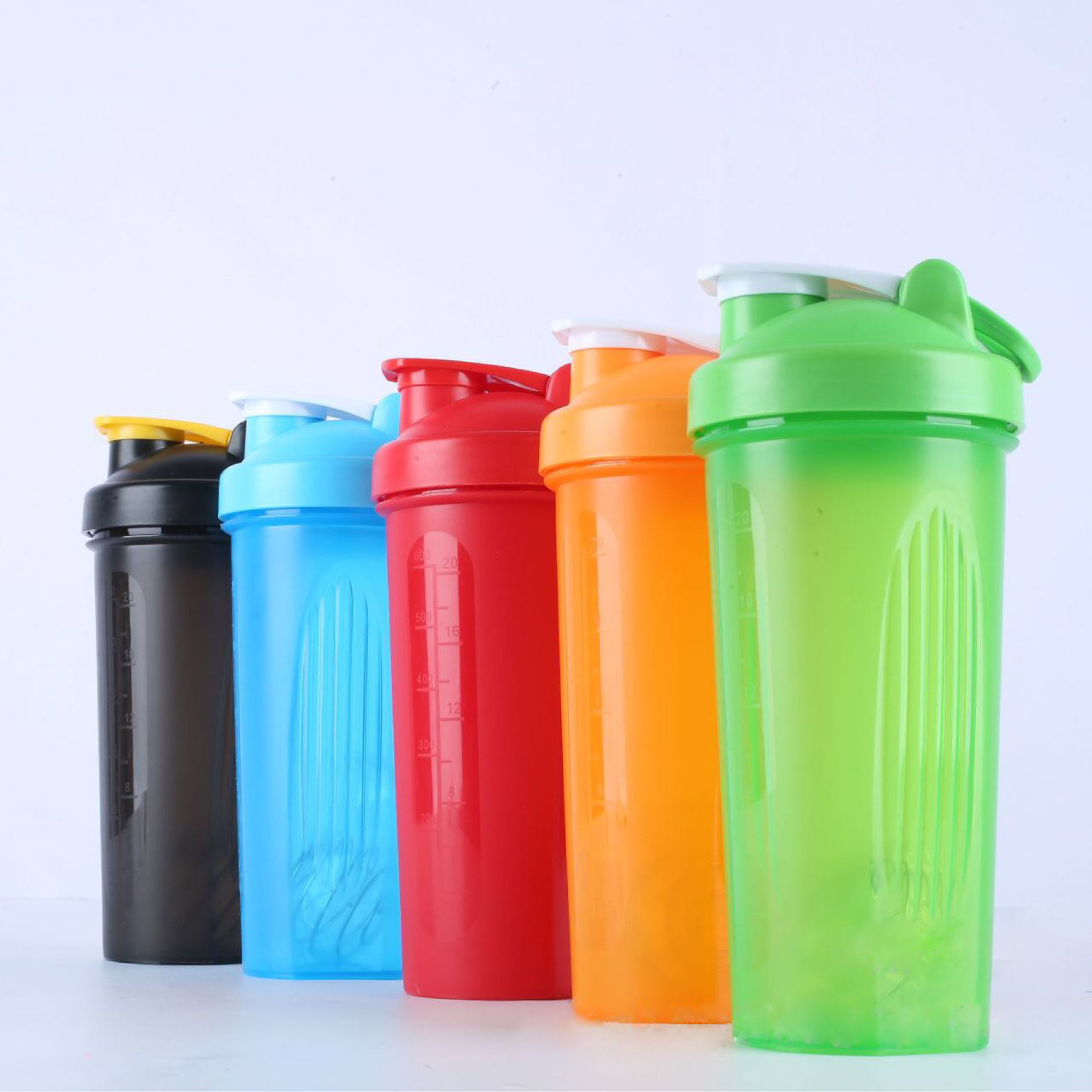 600ml protein shake bottles gym Environmental protection bottle plastic water bottle