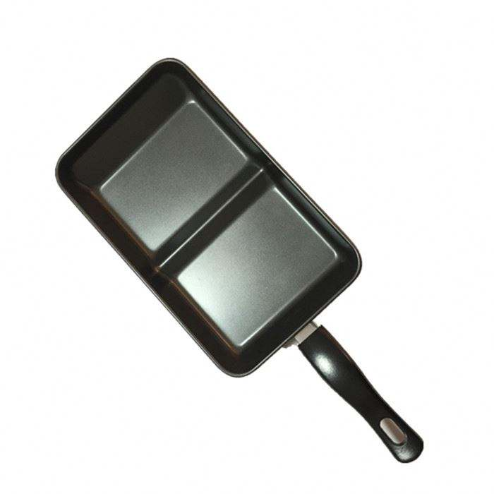 Hot sale 2 blocks Non stick Japanese baking Frying pan tamagoyaki pan BBQ Grill Pan