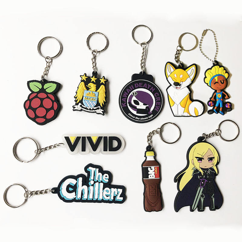 2019 cheap wholesale no minimum personalized ODM eco-friendly custom epoxy print soft keychain