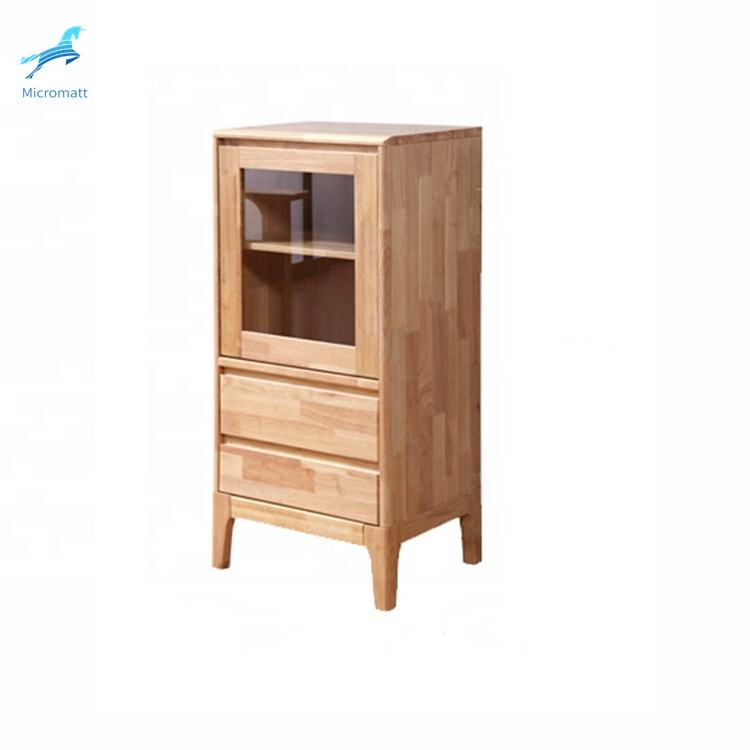 China Manufactory fashionable furniture nordic style natural solid wood dining room sideboard with good price