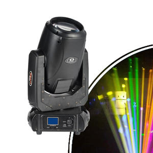 Double Prisms Rainbow Frost Effect Sharpy Beam 280w 10R Moving Head Light for Stage Club Decoration