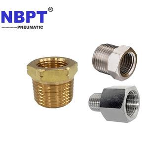 Brass Hex Pipe Reducer Bushing Fitting With NPT BSPT BSPP Thread