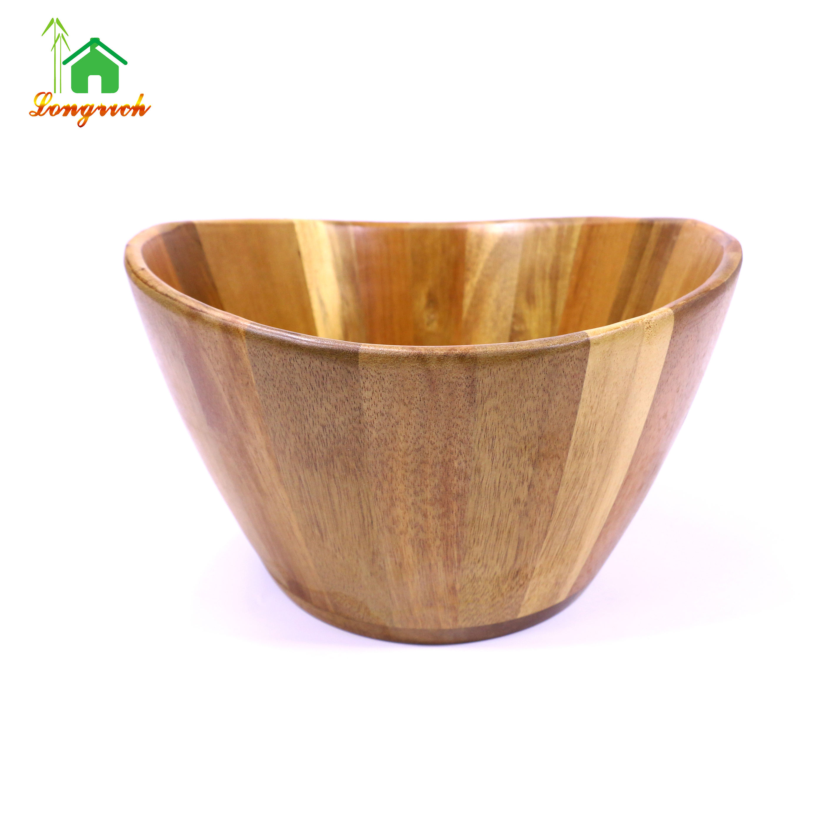 unique design use hotel modern style luxury High Quality Customizable Acacia Wood Salad Bowl