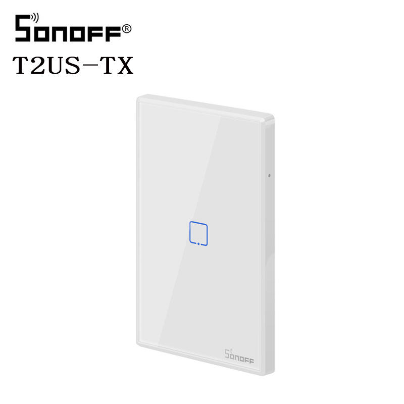 SONOFF T2 US SONOFF TX Basic Smart Wifi Touch Wall Light Switch With Border Smart Home 433 RF/Voice/APP Control Works With Alexa