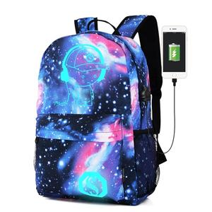 mochila escolar infantil all over printed school bags galaxy print student middle school backpack with USB