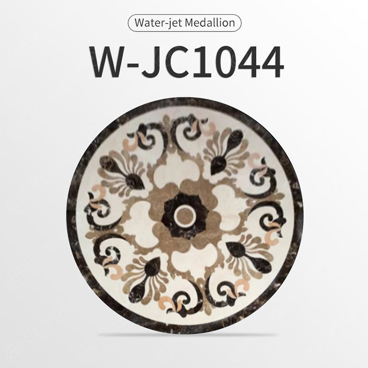 Economical Custom Made Marble Stone a lot of Waterjet Marble Tiles Design Floor Pattern W-JC1044