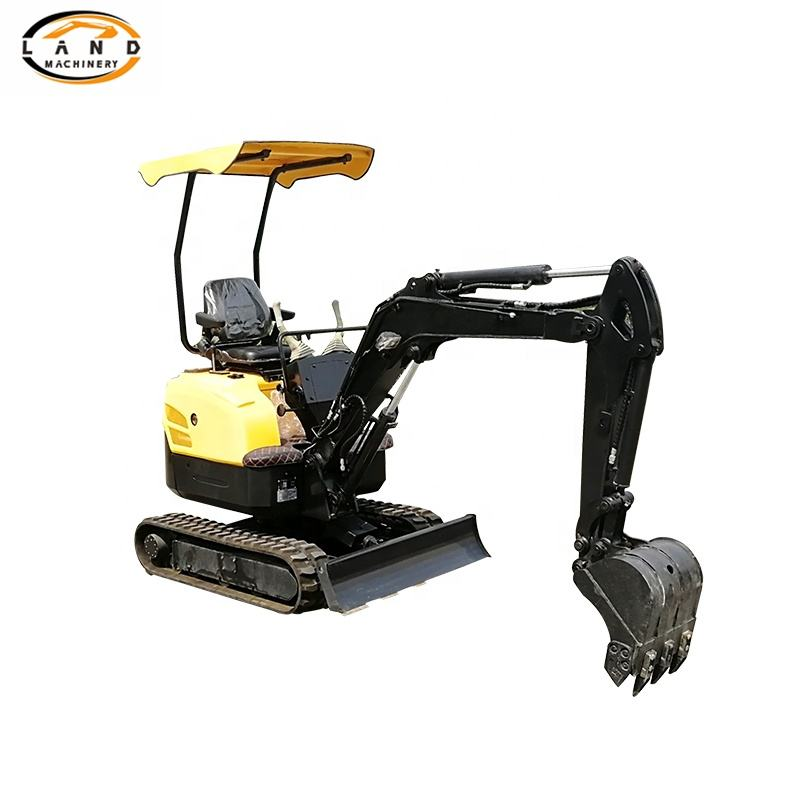 1.2 ton 1.5 ton Small mini rubber tire excavator for sale Hydraulic mini digger