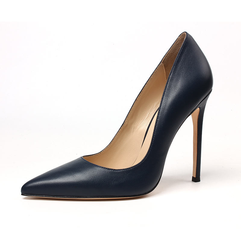 Pointed Toe Slip on Stilettos Party Wedding Pumps Basic Shoes Ladies Trendy Heels