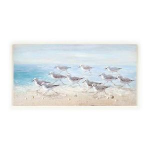 Artree Custom Wall Arts Bird In Beach Large Size 70*140 Living Room Home Hotel Decorative Handmade Coastal Oil Paintings Canvas
