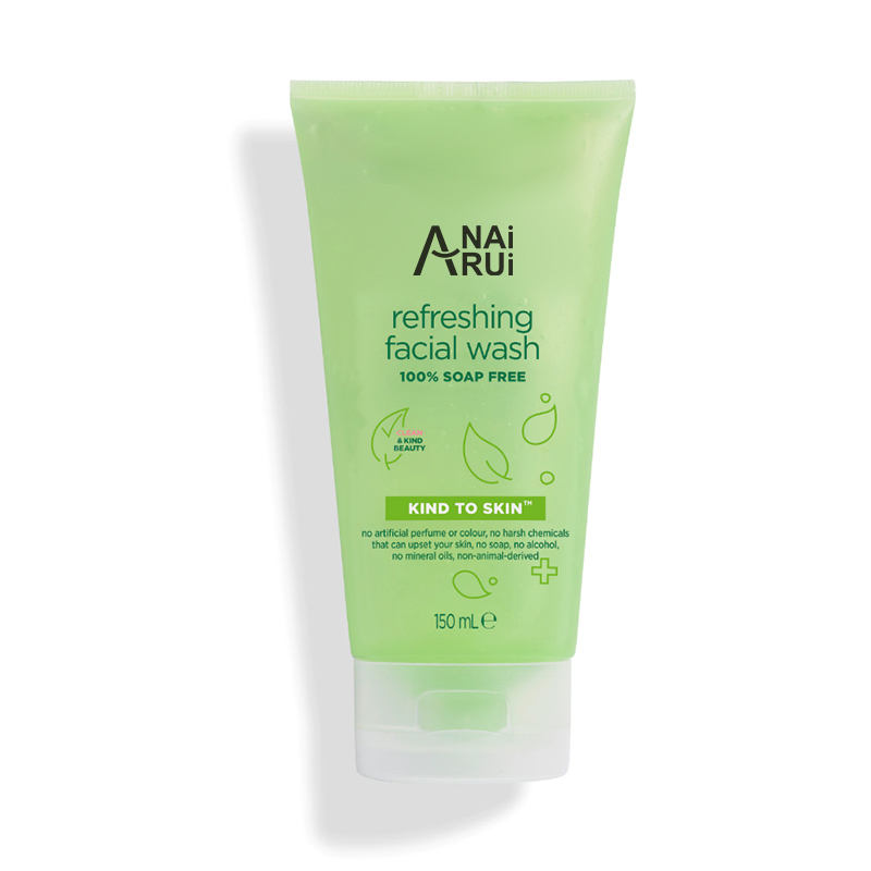 Private Label Face Wash Removes Dirt, Oil And Impurities Skin Clean Refreshing Natural Organic Green Gel facial cleanser