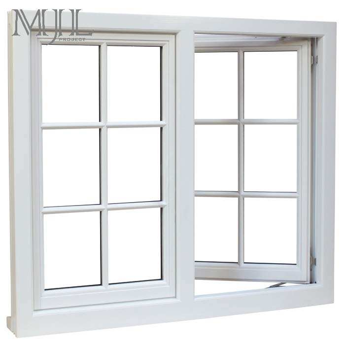 Customized security windows double tempered glass black swing opening aluminum window