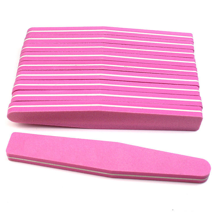 Ready Stock Rhombus Professional Double Sided File Nail Manicure Pedicure Tool 100/180 Grit Sponge Emery Board Nail Files