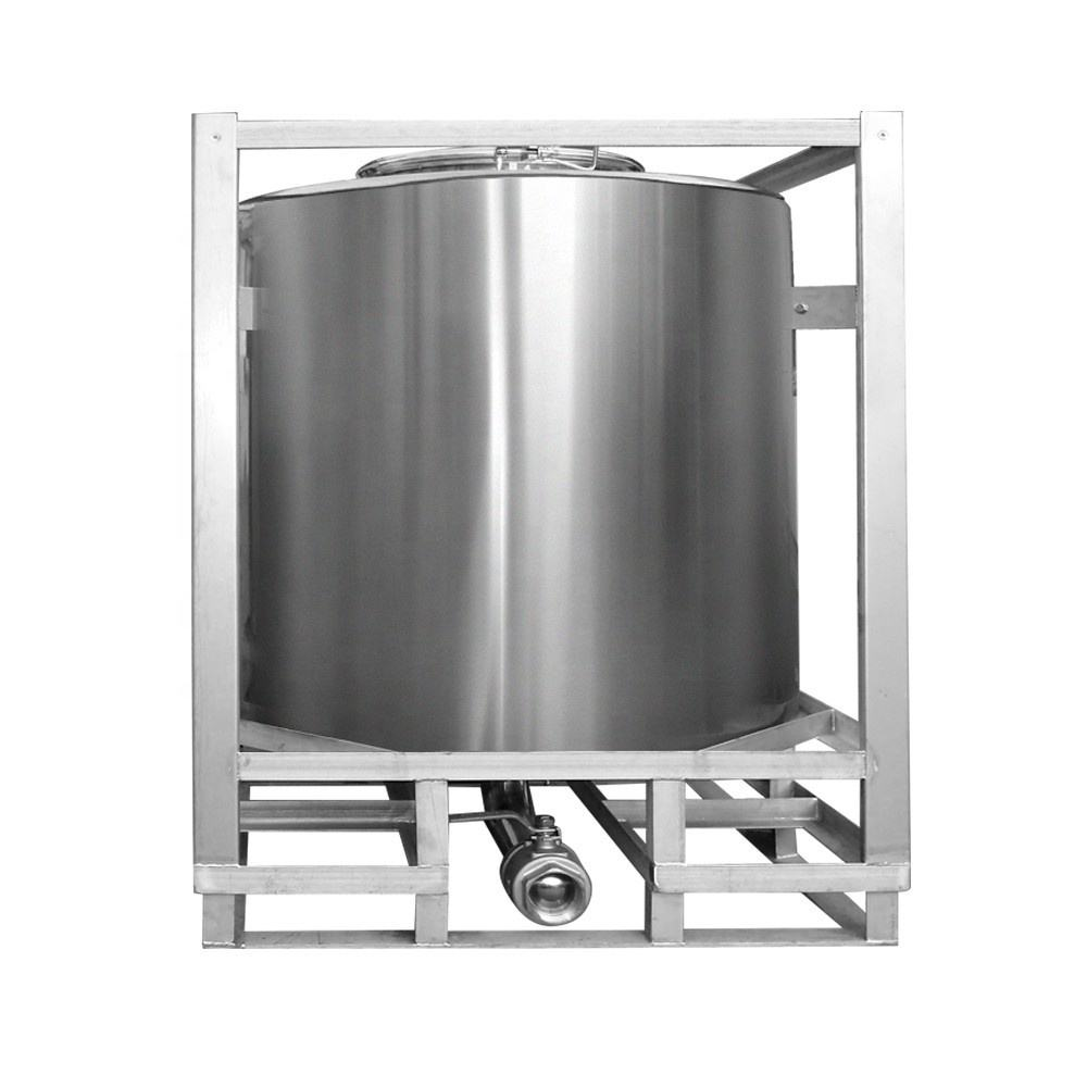 1000Lstainless stalen cilindrische tote IBC tank