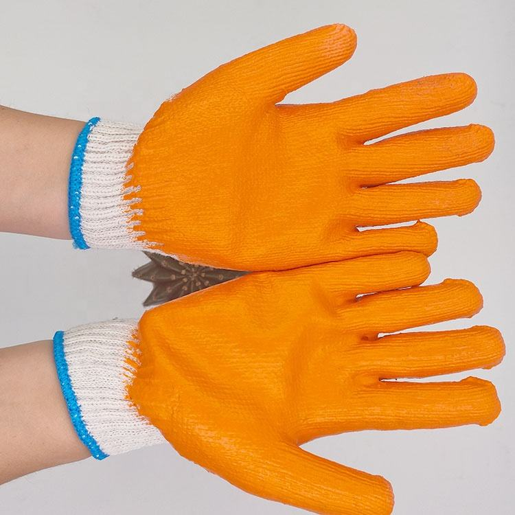 Hot Sell Household Cotton Latex Coated Safety Electrical Working Gloves Cotton