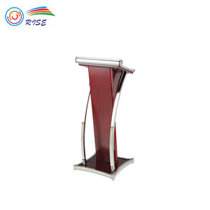 Hotel Wooden Metal Lectern Stands Church Pulpits / Podium Rostrum Speech Stand For Sale