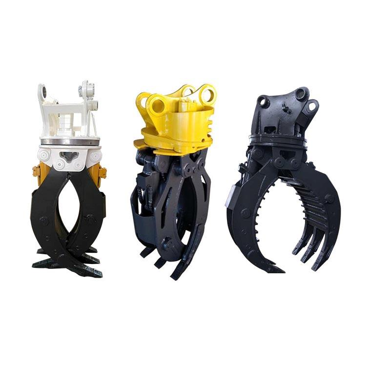 Rotating 360 degree hydraulic multi Peel clamp for 10-15 ton excavator PC130