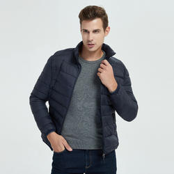 Fashional custom puffer jackets water proof Winter light down jacket for men