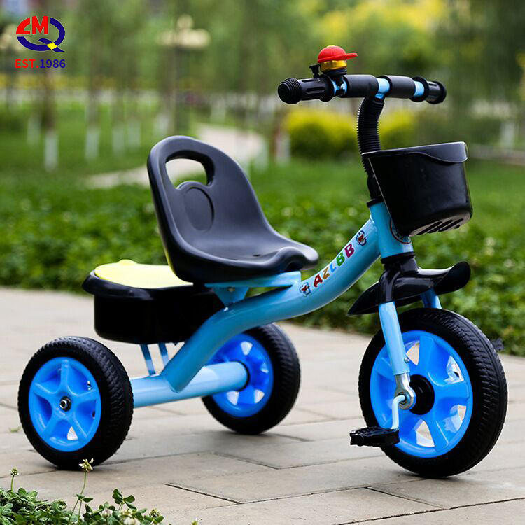 Factory wholesale kids double seat tricycle two seats baby tricycle kids ride on car with back seat