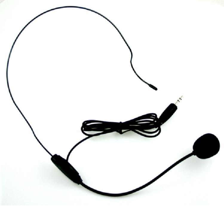 FM Transmitter Swimming Coaching Walkie Talkie Headset Wired Microphone headband