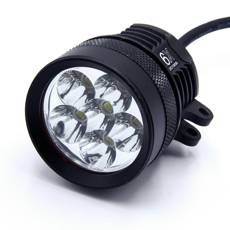 2021 L6X Moto XML/XML2/XPL50 Chips 60W Motorcycle LED Headlight White Headlamp IP68 waterproof 6000LM motorbike Lamp