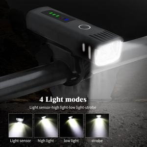Factory Outlet Smart Bicycle lanterna LED Bike Front Light Usb Rechargeable for cycling