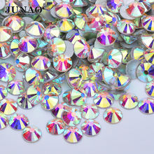 SS 6 10 16 20 30 50 Glitter Crystal AB Strass Applique Round Flatback Glass Crystal Rhinestones For Nail Art Decoration