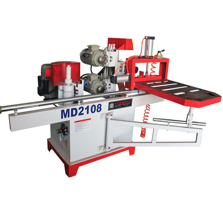 MD2018 woodworking single end double guide rail wood tenoning machine