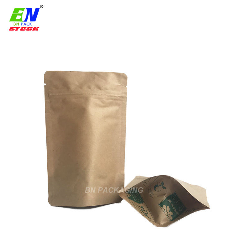 Custom weed packaging cornstarch bag raw material biodegradable paper sachet