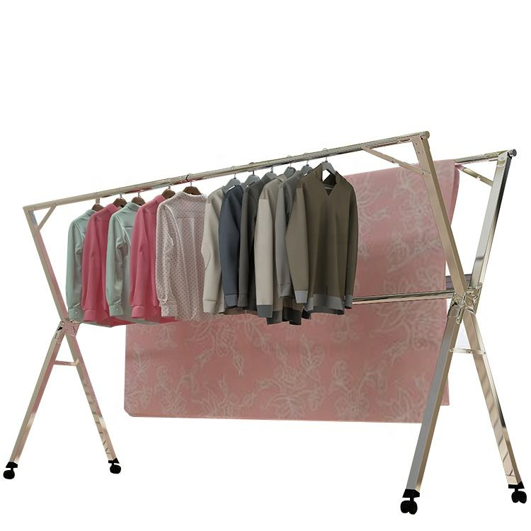 X type european clothes drying rack coat hanger stand