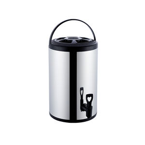 Stainless steel bucket barrel heat insulation Preservation Drink Dispenser commercial milk tea dispenser