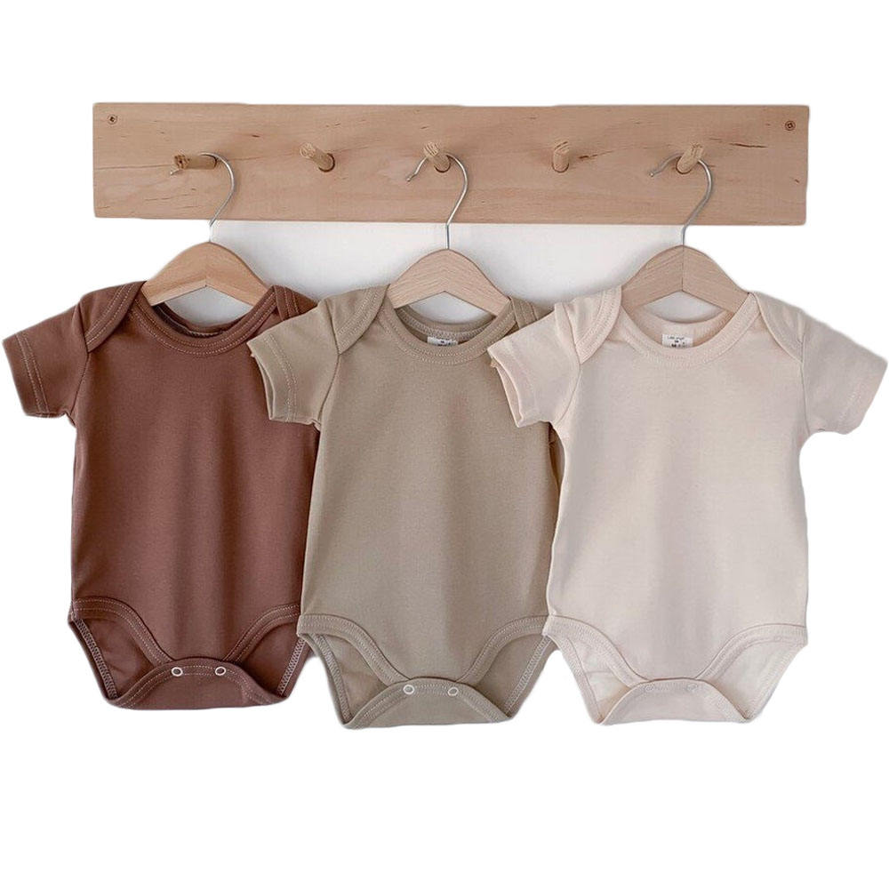 Wholesale organic cotton plain blank baby romper