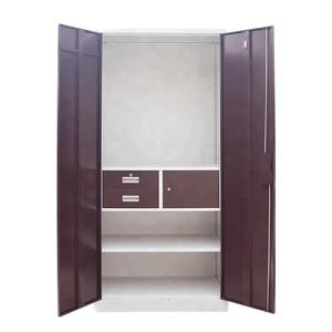 Durable stylish bedroom metal steel wardrobe