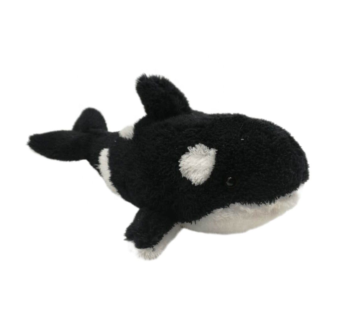 "Custom Design soft stuffed toy 12.5"" Recycled materials Whale plush"