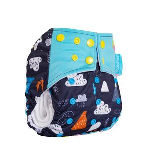 Happyflute Baby Cloth Diapers Washable Pocket Nappy with microfiber insert Reusable Cloth Diaper Covers