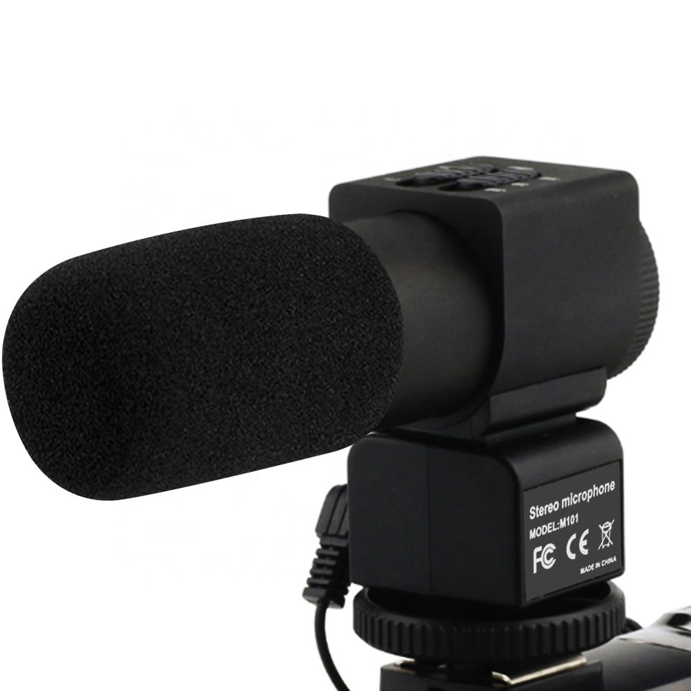 Video Microphone Professional Studio Digital Video Interview Stereo Recording 3.5mm Microphones For DSLR Camera/DV Camcorder