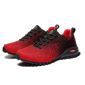 Solomon Hot Sale Big Size 50 Outdoor Red Black Good Wearproof Men Trail Running Shoes