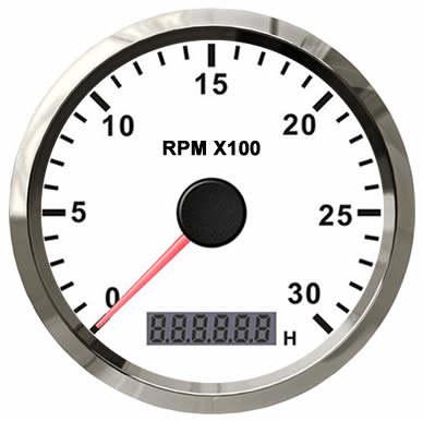 /3000/rpm 85/mm con retroiluminaci/ón Tac/ómetro Medidor de RPM con contador de horas para coche cami/ón barco yate 0/