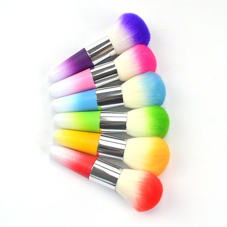 BIN Magic Nail Ombre hair long handle dust brushes For Nail Powder Make up Brushes Tools