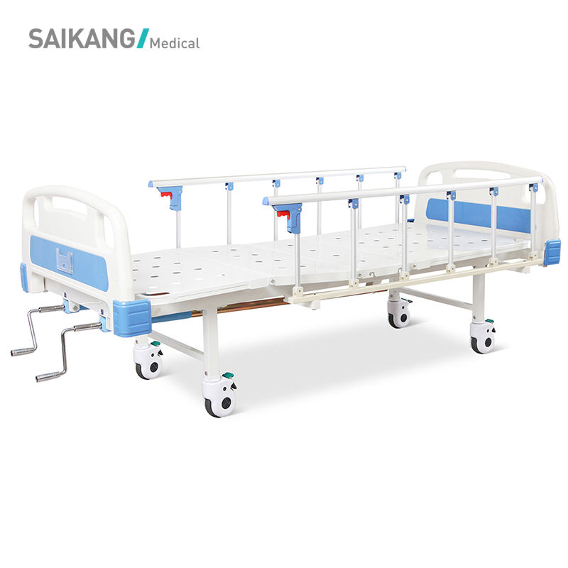 A2k5s(QB) Manual Adjustable Hospital Bed,Abs Bed With Castors,Clinic Room Bed