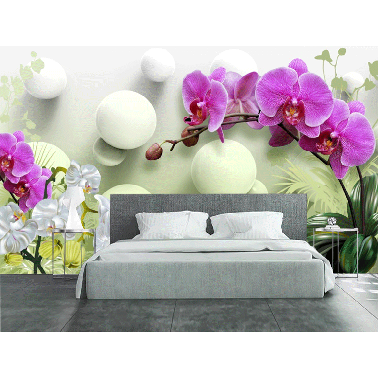 French country decor hd wallpaper ball flower modern wallpaper for bedroom decoration wallpaper 3d wall sticker