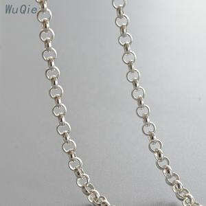316 Stainless Steel 2mm Soldered Rolo Chains 36 inches Stainless Steel Color