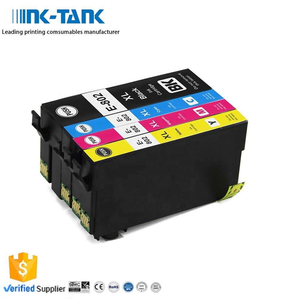 INK-TANK 802 802XL T802XL T802 Premium Color Compatible Ink Cartridge for Epson WorkForce WF-4720