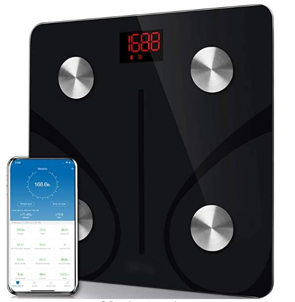 Bluetooth Body Fat Scale, Smart Wireless BMI Bathroom Weight Scale Body Composition Health Analyzer with Smartphone App