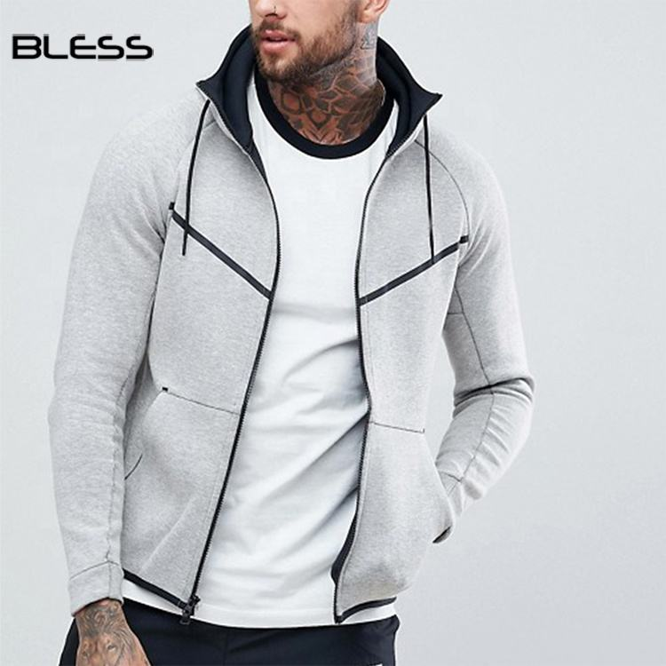 Wholesale Zip Hoodie Custom Logo Men Tech Fleece Hoodie
