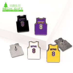In STOCK   fast delivery custom sports basketball metal soft enamel shoes logo kobe bryant sneakers lapel pin set for Souvenir